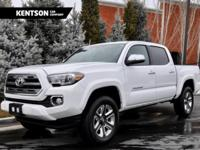 2017 Toyota Tacoma LIMITED 4x4, Super White w/ Brown