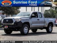 Ready for action, our 2017 Toyota Tacoma SR Access Cab