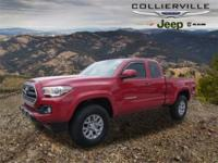 This 2017 Toyota Tacoma SR5 in Barcelona Red Metallic