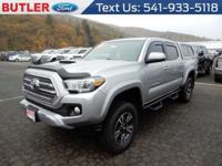 Gray 2017 Toyota Tacoma 4WD 6-Speed V6 4WD.  Recent