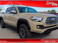 2017 Toyota Tacoma TRD Offroad 4WD.  Options: