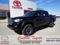 4WD. Black 2017 Toyota Tacoma TRD Offroad 4D Double Cab