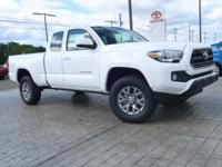 *Bluetooth* This 2017 Toyota Tacoma SR5 is Super White