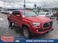 CARFAX One-Owner. Clean CARFAX. Red 2017 Toyota Tacoma