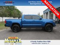 This 2017 Toyota Tacoma SR5 in Blazing Blue Pearl is