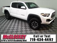 Own the trail in this 2017 Toyota Tacoma TRD Off-Road