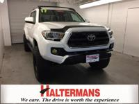 White 2017 Toyota Tacoma SR5 4WD 6-Speed Automatic V6