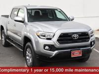 Certified. Silver Sky Metallic 2017 Toyota Tacoma SR5
