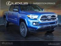 Clean CARFAX.  2017 Toyota Tacoma SR5 Blazing Blue
