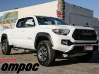 Options:  2017 Toyota Tacoma Trd Offroad|White|Axle