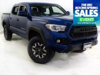 2017 TOYOTA TACOMA TRD OFFROAD IN BLAZING BLUE, FOUR