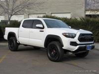 2017 Tacoma Double Cab TRD Pro 4x4 in white with black