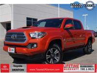 Clean CARFAX. Inferno Red 2017 Toyota Tacoma TRD Sport