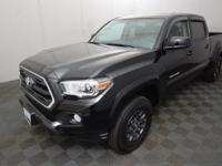 CARFAX One-Owner. Black 2017 Toyota Tacoma SR5 V6 4WD