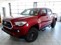 Certified. Barcelona Red Metallic 2017 Toyota Tacoma