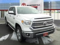 Clean CARFAX. Certified. Super White 2017 Toyota Tundra