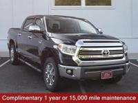 CARFAX One-Owner. Black 2017 Toyota Tundra 1794 4WD