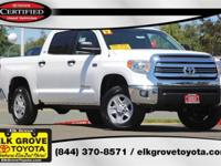 Certified. Super White 2017 4D CrewMax Toyota Tundra
