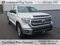 CARFAX One-Owner. Certified. Super White 2017 Toyota