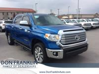 CARFAX One-Owner. Clean CARFAX. Blue 2017 Toyota Tundra