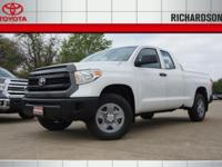 2017 Toyota Tundra SR  Options:  3.91 Axle Ratio|18 X