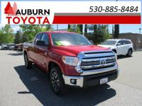 LOW MILES, 1 OWNER, 4WD!  This 2017 Toyota Tundra