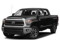 Clean CARFAX. Black 4WD. 2017 Toyota Tundra 6-Speed