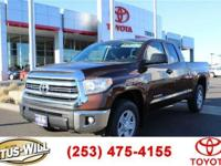 SR5 trim, Sunset Bronze Mica exterior. Bluetooth, Tow