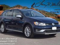 This all-new turbocharged Night Blue 2017 Golf Alltrack