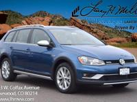 This all-new turbocharged Silk Blue 2017 Golf Alltrack