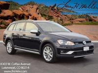 This all-new turbocharged Black 2017 Golf Alltrack SE