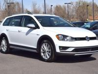 This all-new turbocharged Pure White 2017 Golf Alltrack