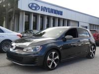 One Owner. Golf GTI S, 2.0L TSI, FWD, and Carbon Steel