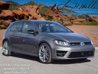 This turbocharged Limestone Gray 2017 Golf R comes with