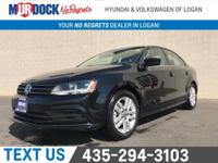 Cloth.  Black 2017 Volkswagen Jetta 1.4T S FWD 6-Speed