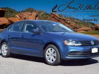 This turbocharged Silk Blue 2017 Jetta S comes with