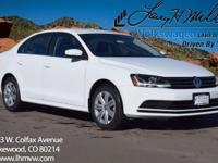 This turbocharged Pure White 2017 Jetta S comes with