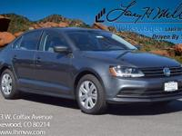 This turbocharged Platinum Gray 2017 Jetta S comes with