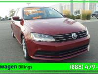 Red 2017 Volkswagen Jetta 1.4T S FWD 6-Speed Automatic