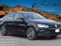 This turbocharged Black 2017 Jetta SE comes with Black