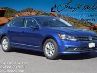 This turbocharged Reef Blue 2017 Passat S comes with