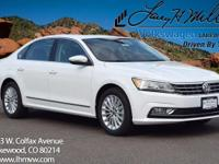 This turbocharged Pure White 2017 Passat SE with
