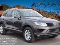 This Black Oak Brown 2017 Touareg V6 Sport w/