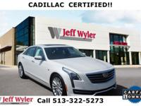CARFAX One-Owner. Clean CARFAX. White 2017 Cadillac CT6