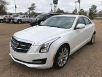 CARFAX One-Owner. Clean CARFAX. White 2017 Cadillac ATS