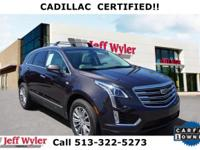 CARFAX One-Owner. Clean CARFAX. Gray 2017 Cadillac XT5
