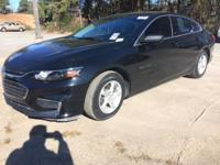 CARFAX One-Owner. Black Metallic 2017 Chevrolet Malibu
