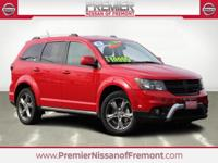 Clean CARFAX. Redline 2 Coat Pearl 2017 Dodge Journey