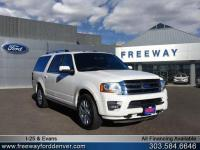White Platinum Metallic Tri-Coat 2017 Ford Expedition
