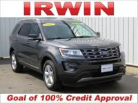 AWD! FORD CERTIFIED! LIKE NEW! Gray 2017 Ford Explorer
